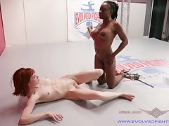 Alexa Morning star increased by her friend please each other's pussies with a strapon