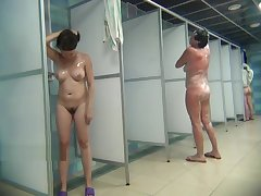 Hidden camera there the public shower