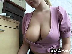 office worker downblouse