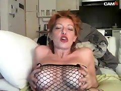 Busty redhead masturbate