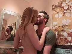 Having picked with dude in the debar beauty Alexa Evolve into gives him a BJ in toilet