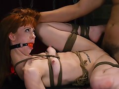 Tight redhead endures a lot be advisable for long and shacking up in BDSM