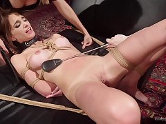 lesbian agony and bdsm in a group is amazing experience for Cherry Torn