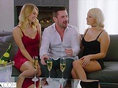Kylie Nuncio coupled with Natalia Starr triplet porn