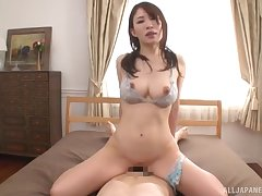 Japanese with wide-ranging boobs, home cock riding porn special