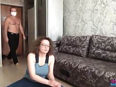 Busty Wife Sucking and Hardcore Sex after Stretching