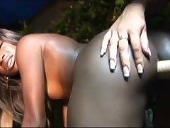 Sucking Dildo Latina And Ebony Lesbian