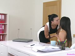 Unforgettable lesbian shed be thrilled by with Lucy Li and Oxana Foirce