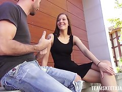 Clothes-horse fucks sex-appeal teen with perky tits Molly Manson