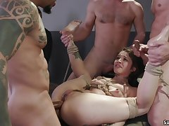 Economize makes MILF bdsm copulation orgy rake