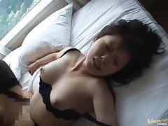 Moot Japanese babe Hazuki Takashima moans during sex