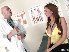 Hot pest brunette Allison star enjoys having sex with a doctor