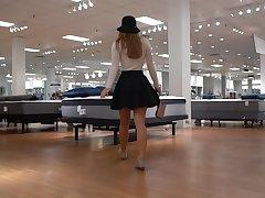 Went mattress shopping, forgot to agitate my panties GIF