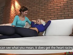 Desirable blonde model gets her pussy fragmentary by slutty Eufrat Mai