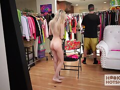 Magic ass exhibitionist Chanel Shortcake exposing herself to the sexiest way