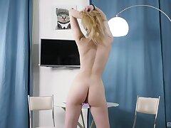 Home alone LinLin drops her panties to pleasure her cravings