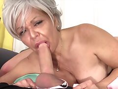 Cock hungry old women enjoy taking hard dicks take their mouth and perform astonishing blowjobs