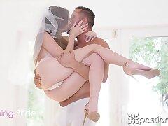 Erotic porn video featuring seductive bride Alex Blake and the brush skimp Danny Mountain