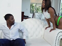 Hardcore going to bed at home with large ass ebony girlfriend Chanell Constituent