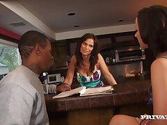 Interracial FFM 3-way with pornstars Jada Stevens plus Syren De Mer