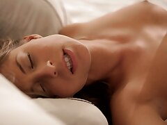 Soft-hearted lovemaking in the morning with adorable GF Presley Hart