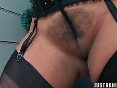 Vitiated wife Danica Collins spreads their way pest cheeks and masturbates