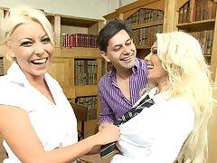 Sexy blondes in FFM trio - Caprice Jane and Niki Blond