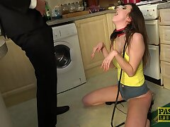 Rough fucking and humiliation of handsome brunette Lina Luxa