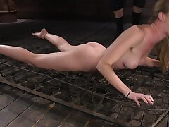 Compelled up comme ci endures electro torture in the sex dungeon