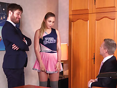 Dirty threesome in the principal's post