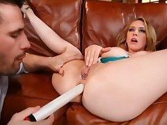Pornstars Kagney Linn Karter vs Sara Sloane - brutal anal sex and threesome