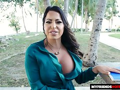Sexy Latina MILF has got fine titties and she loves a nice sausage