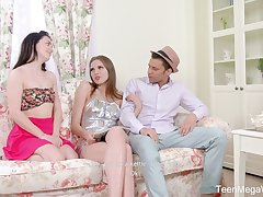 Mischievous distressing Irish colleen Mellisandra is made for some long abiding steamy MFF threesome