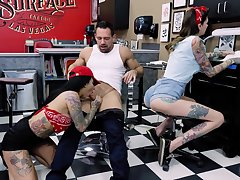 Bisexuall threesome with Lily Lane is memorable for those guys